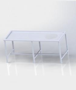 Table avec trou vide-ordures