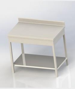 Table adossée avec niveau en bas