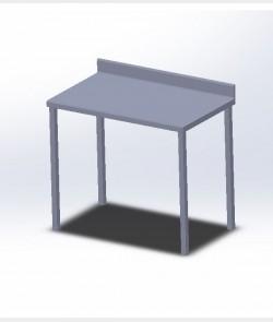 Table adossée simple
